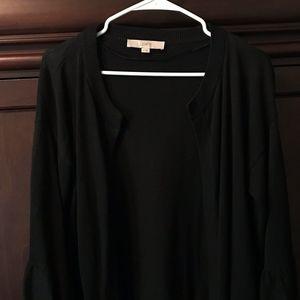 LOFT Open Front Bell Sleeve Cardigan